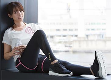 深田恭子さんのランニングウェア