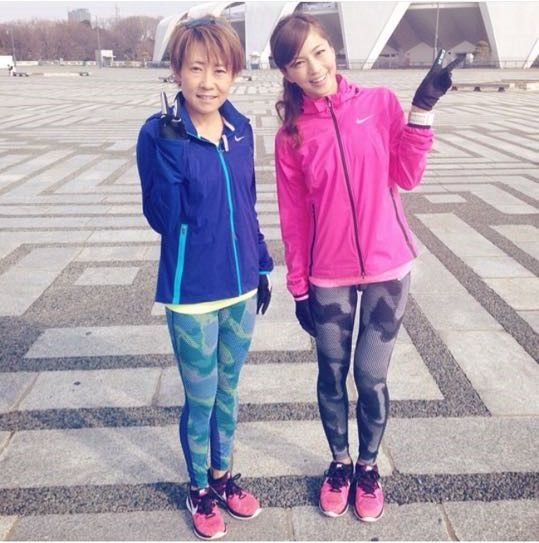 安田美沙子さんのランニングウェア